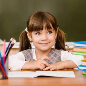 Image d'illustration: petite écolière russe.